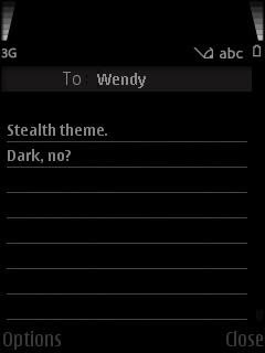 stealth theme