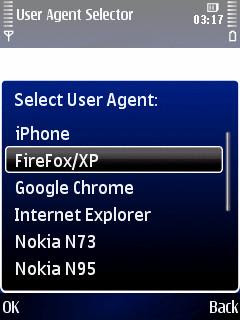 iPhonesque mod Nokia Symbian web browser user agent changer