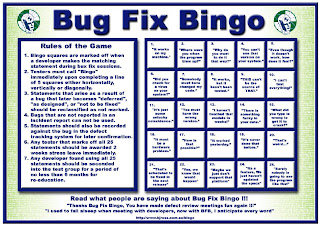 bug fix bingo