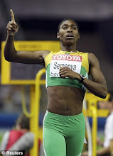 CASTER SEMENYA WINNER OF WOMEN&#39;S 800M IAAF GAMES 2009