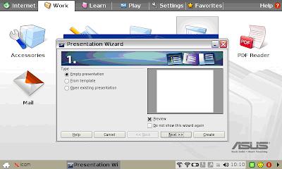 netbook computing asus eee pc easy mode work tab options tour