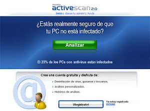 Analiza tu pc con antivirus online panda activescan