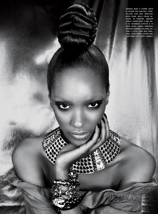chanel iman vogue italia. Vogue Italia February 2011