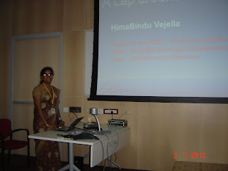 Hima vejella presenting at Community Launch
