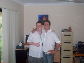 Me and Reece at home before driving to the Elton John concert!
