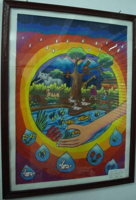 "LUKISAN ""ANAK-ANAKKU"" PADA WAKTU LOMBA HARI AIR DUNIA UNESCO 2010"
