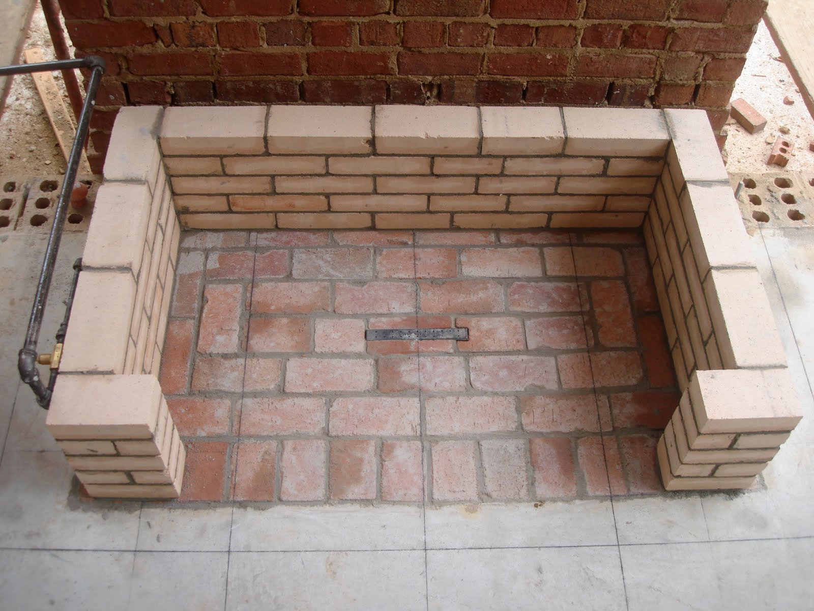porch fireplace firebrick this fireplace backs up to the den fireplace