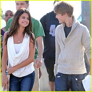 Justin Bieberselena Gomez on Justin Bieber Selena Gomez Santa Monica Jpg