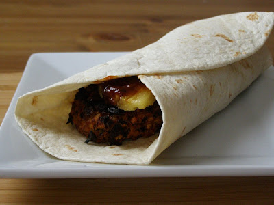 Vegan Spicy Beanburger Wrap