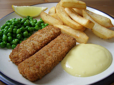 Vegan Fish Fingers with Agave Mustard Mayonnaise