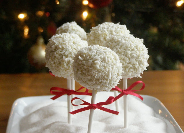 vegan snowball cake pops