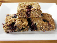 Healthy Banana Blueberry Maple Bars