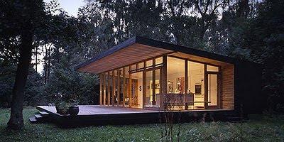 Mi vida turquesa caba a en el bosque for Small house design new zealand