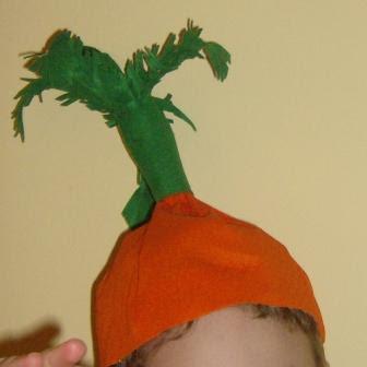 cappello da carota per il vestito di carnevale