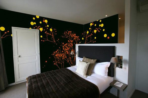 Bedroom Wall Paint Designs Mesmerizing Of Bedroom Wall Art Idea Photos