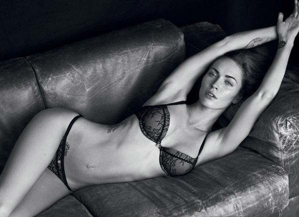megan fox 2011 pictures. Megan Fox Armani Underwear