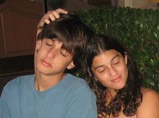 Tomas e Carol em momento relax