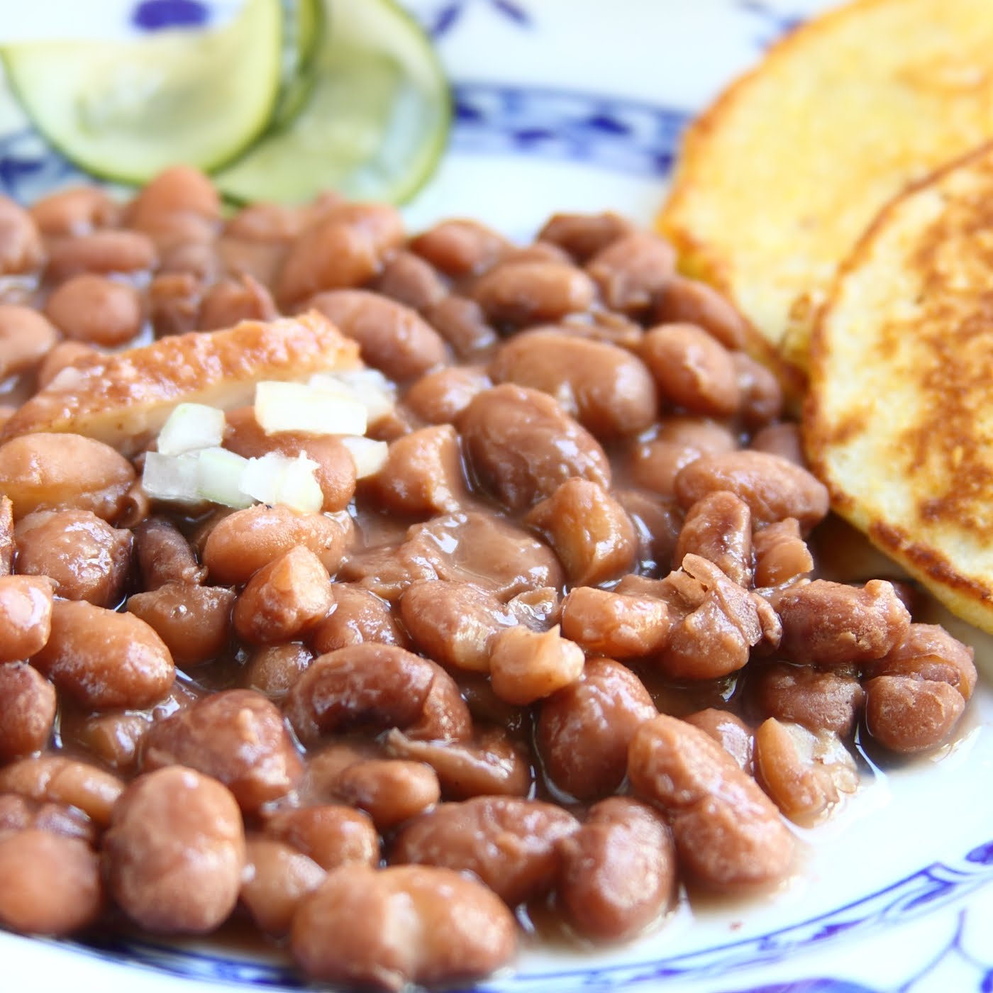 ShowFood Chef: Pinto Beans & Fried Corn Bread - Southern ...