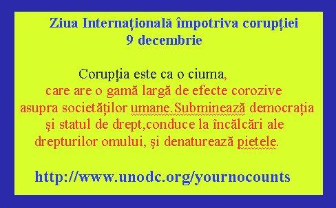 Ziua internationala de lupta impotriva coruptiei (ONU)