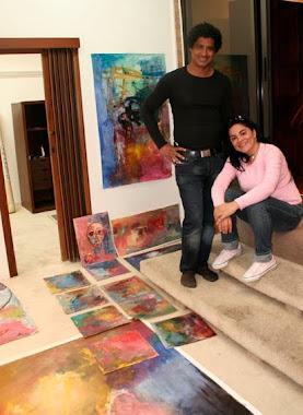 Joner y Ana Adelaida en la Galería del Artista