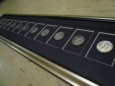 framed Coins of chinese zodiac