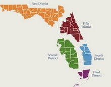 Map of Florida's District Courts of Appeal