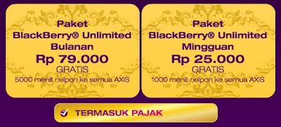 Cara Mengaktifkan AXIS BlackBerry® Unlimited - Tarif Lengkap