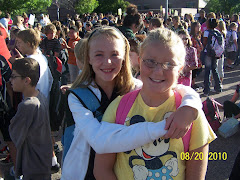 First day of 5th grade with buddy Sarah