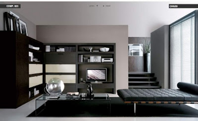 Luxury living room Italian Contemporary Bedroom