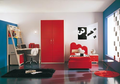 Red  Kid's Bedroom
