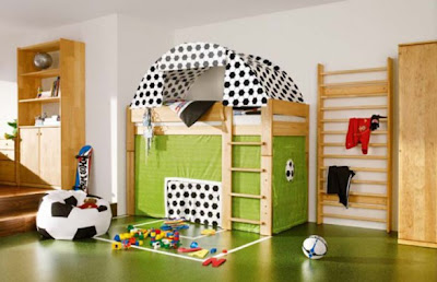Bedroom   Girls on Interesting Bedroom For Boys  Football   S Bed Design  Football  Gate