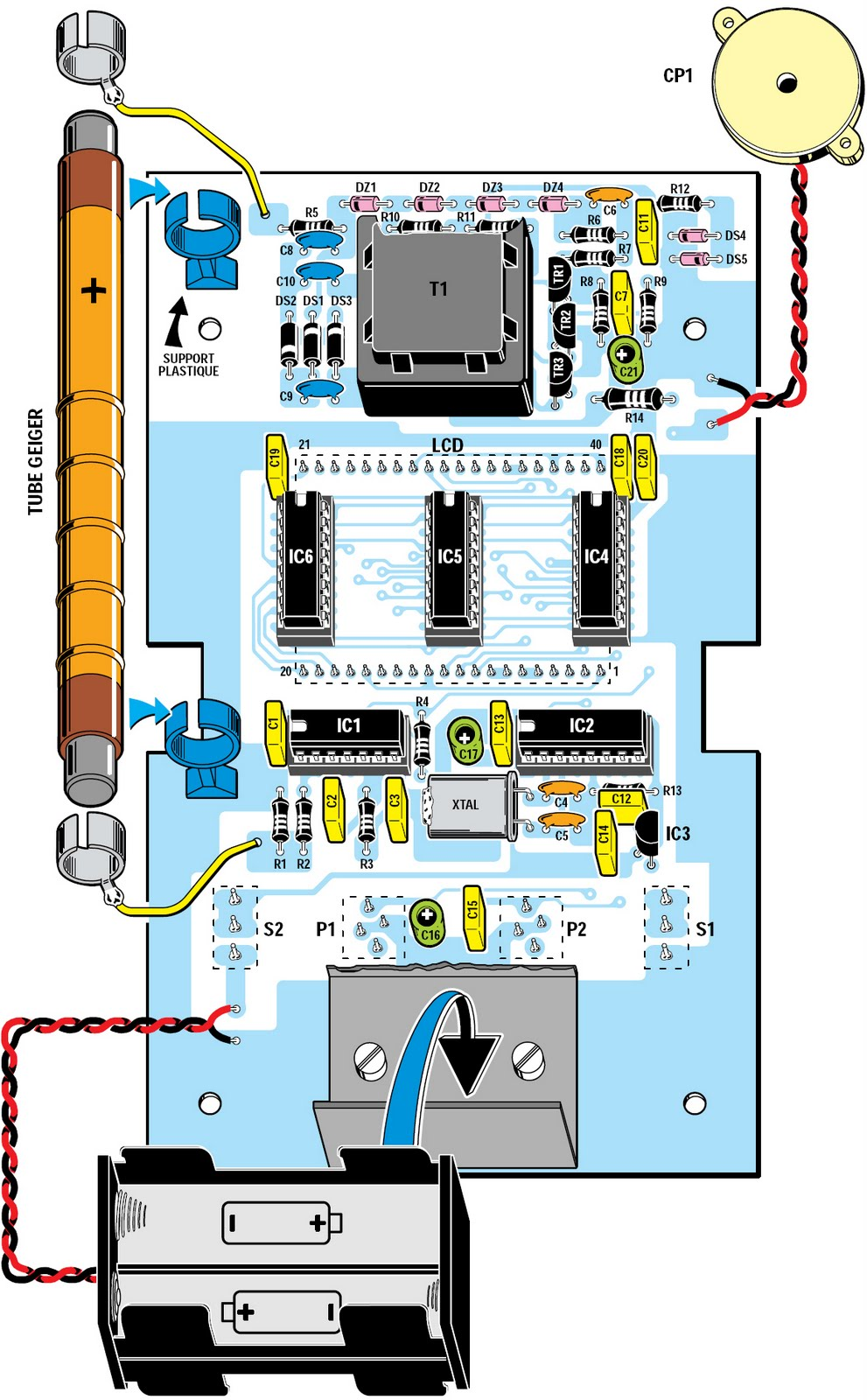 Snl Fart Commercial Magic Mouth Geiger Counter Audio Circuit Board 8 Comments To Figure 10 Implementation Plan Of Components The Other Side Pcb As You Can See Does Not Present Any Difficulty