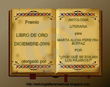 """PREMIO """"LIBRO DE ORO"""" MES DE DICIEMBRE - 2009 - 01/01/2010"""