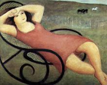 """""""La hamaca"""" (1933) por Raúl Soldi (1905-1994)"""