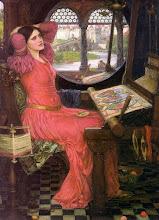 """""""Estoy medio enfermo de sombras, dijo la señora de Shalott"""" (1915) DE JOHN WILLIAM WATERHOUSE"""