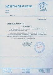 Kivumbi`s LDC Letter
