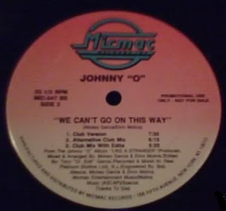 Johnny O - We Can't Go On This Way