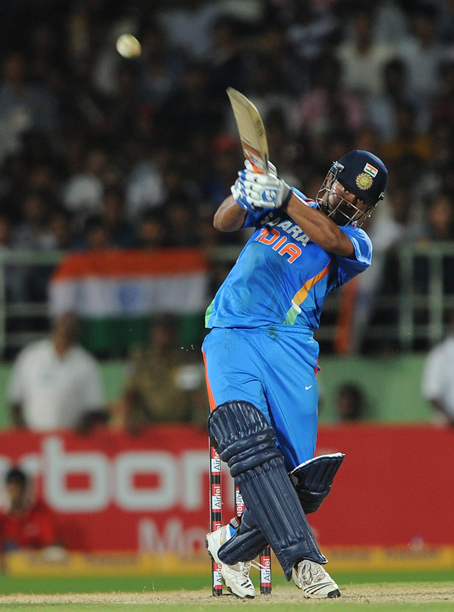 Cricket Wallpapers: Suresh Raina Hitting Six Wallpaper