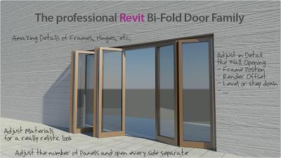 Revit Content ADVANCED BI FOLD DOOR REVIT FAMILY & Revit Folding Door Images Album - Losro.com pezcame.com