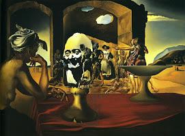 Mercado de esclavos con el rostro desaparecido de Voltaire