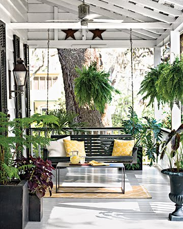 Your southern peach front porch sittin 39 for Small porch swing ideas