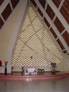 Interior of St. Michael Catholic Church, Sihanoukville, Cambodia