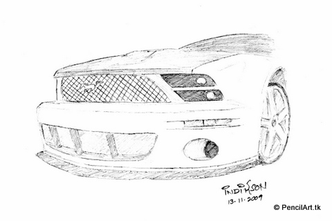 Cars Drawings Mustang For Drawing Mustang Cars