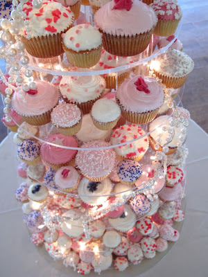 lovely selection of pearly pink cupcakes we did for Michelle 39s wedding