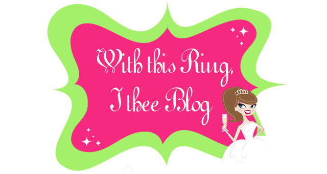 With this ring, I thee blog.
