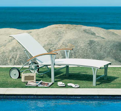 Westminster Teak Gemini Sun Lounger from Furniture 123