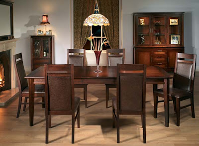 Henley Extending Dining Set with 6 Leather Chairs from Furniture 123