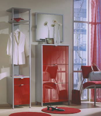 Prestige Shoe Cabinet and Clothes Stand from Furniture 123