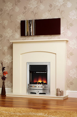 Blaze Electric Fireplace Suite in White