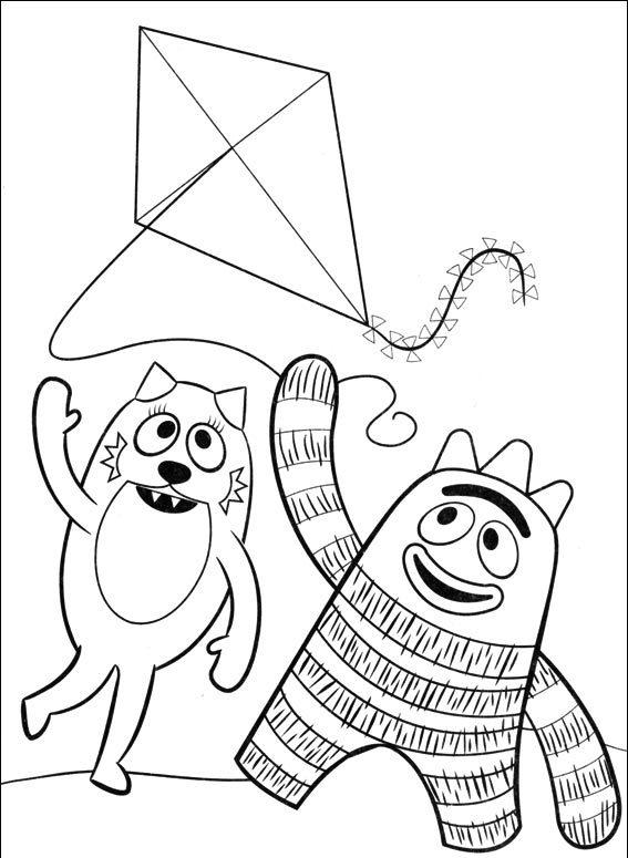 Stampa e colora yo gabba gabba for Yo gabba gabba coloring pages
